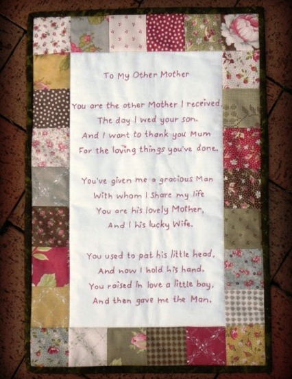 Stitch a gift for your special mother-in-law