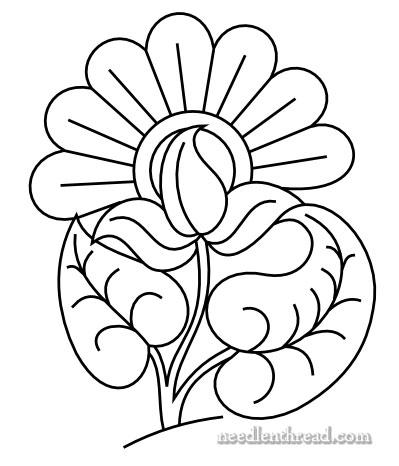 Elegant Embroidery Flower Pattern