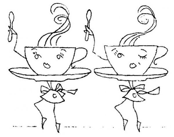 Freebie: Vintage Cups