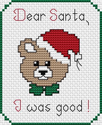 Free Cross Stitch Pattern Santa I Was Good Needle Work