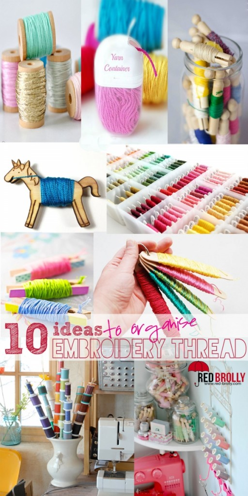 Organize your threads needle work