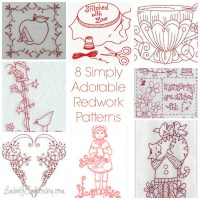 8 Simply Adorable Redwork Patterns