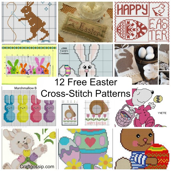graphic regarding Free Printable Punch Needle Patterns named Cost-free Easter Cross-sch Design and style Roundup Needle Do the job