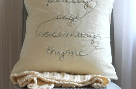 Free Motion Embroidery Pillow