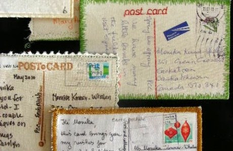 Try your hand at Fabric Postcards