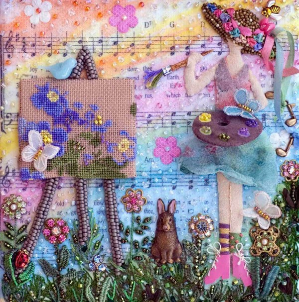 How about stitching a bead journal