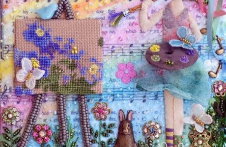 How about stitching a bead journal?