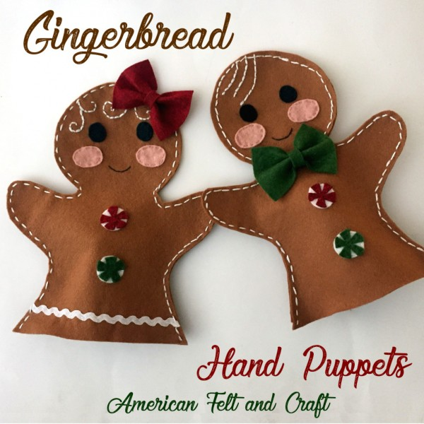 Handmade Gift Ideas – Kids Gingerbread Hand Puppets