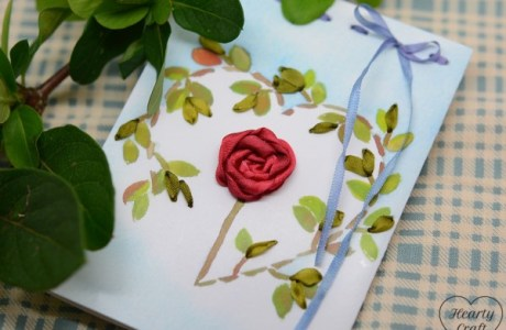 Ribbon Embroidery – Valentine's Day Card