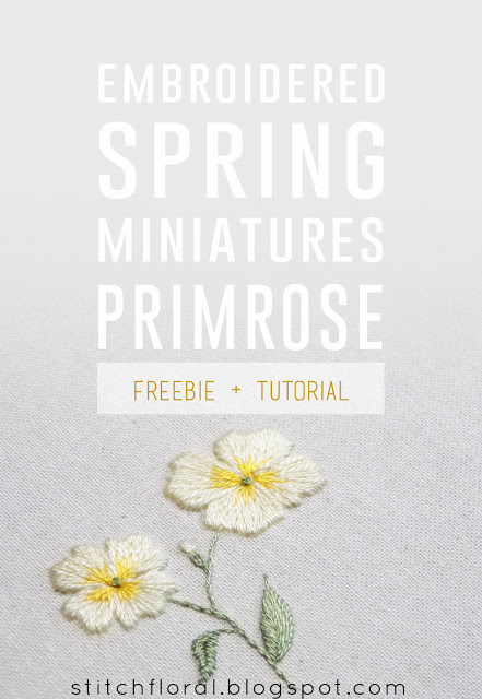Hand Embroidery Tutorial – Primrose Flower