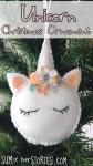 Unicorn Christmas Tree Ornament