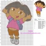 Free Dora The Explorer Cross-stitch Pattern
