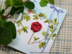 DIY Valentine Card Stitched with Silk Ribbons