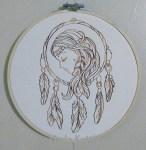 Free Machine Embroidery - Dreamer Dream Catcher