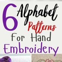 6 Alphabet Patterns For Hand Embroidery