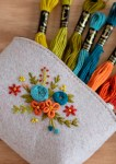 Floral Purse Hand Embroidery Free Pattern