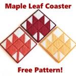 Plastic Canvas Maple Leaf Coasters Pattern
