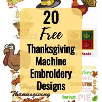 20 Free Thanksgiving Machine Embroidery Patterns