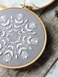 Free Snowflake Mandala Hand Embroidery Pattern