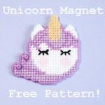 Free Plastic Canvas Unicorn Magnet Pattern
