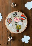 Hot Air Balloons - Free Hand Embroidery Pattern