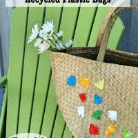 Embellish Straw Bag with Recycled Plastic Bags