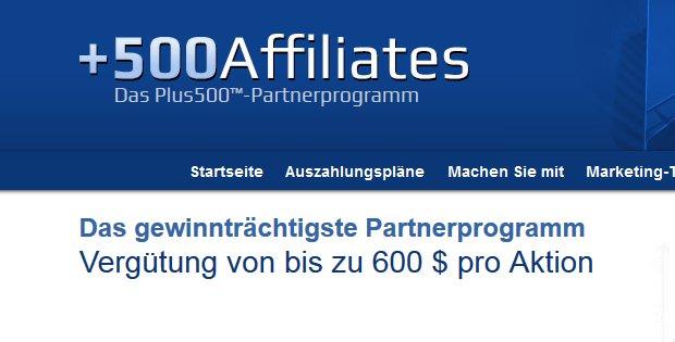 500Affilates – Partnerprogramm mit Provisionen von bis zu 600$
