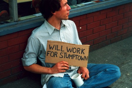 Raymond working for Stumptown