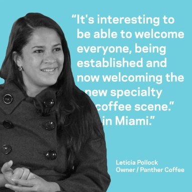 Leticia Pollock of Panther Coffee