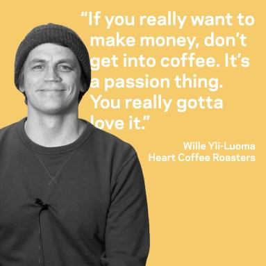 Wille Yi-Luoma of Heart Coffee Roasters