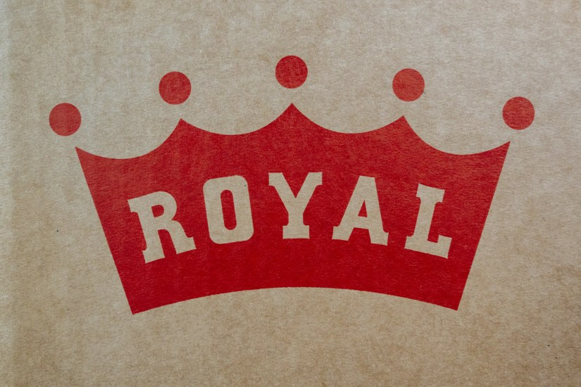 New royal logo on crown jewel box