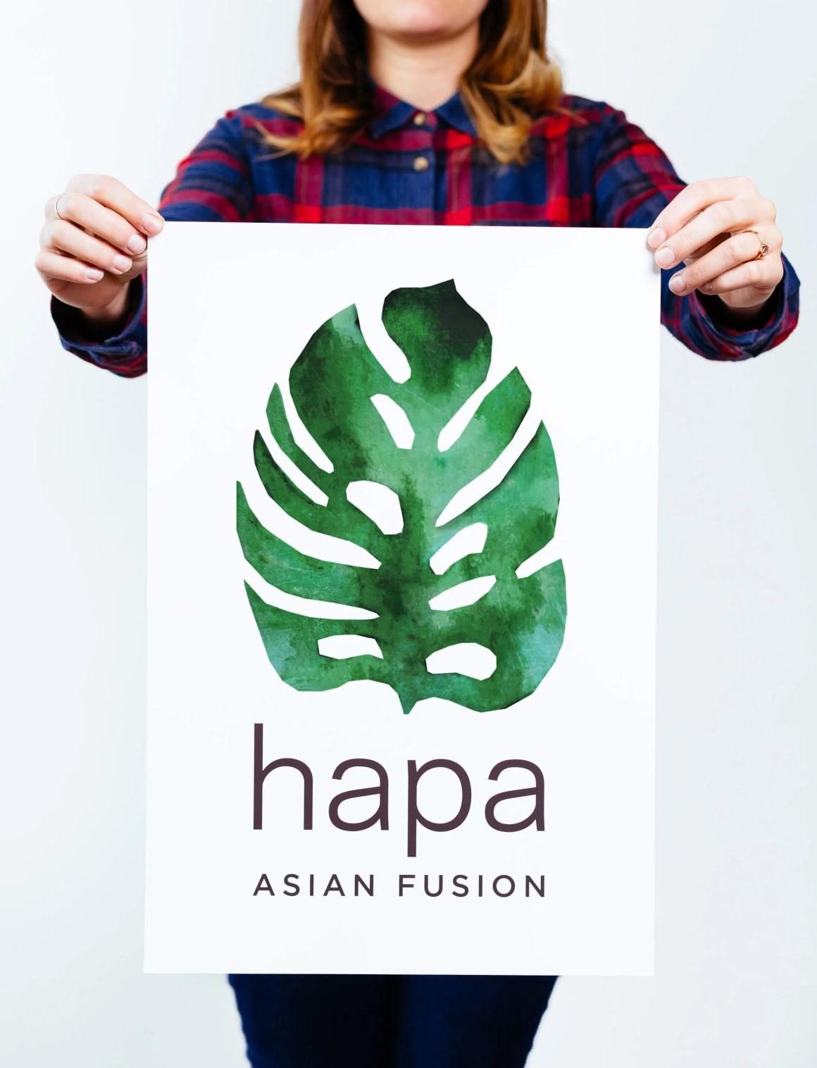 Hapa Asian Fusion logo by Needmore Designs