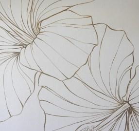 Hapa mural flowers