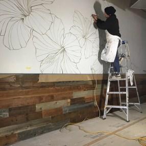 Michael Paulus painting mural