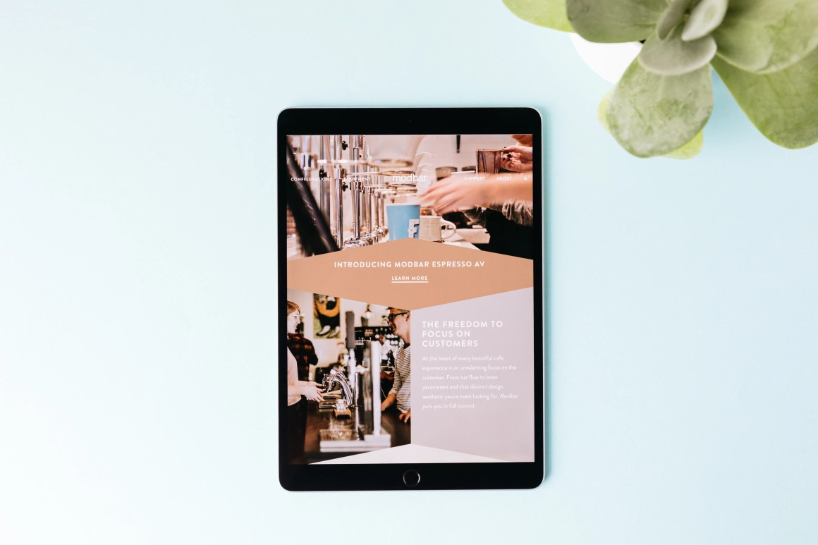 Modbar redesigned website
