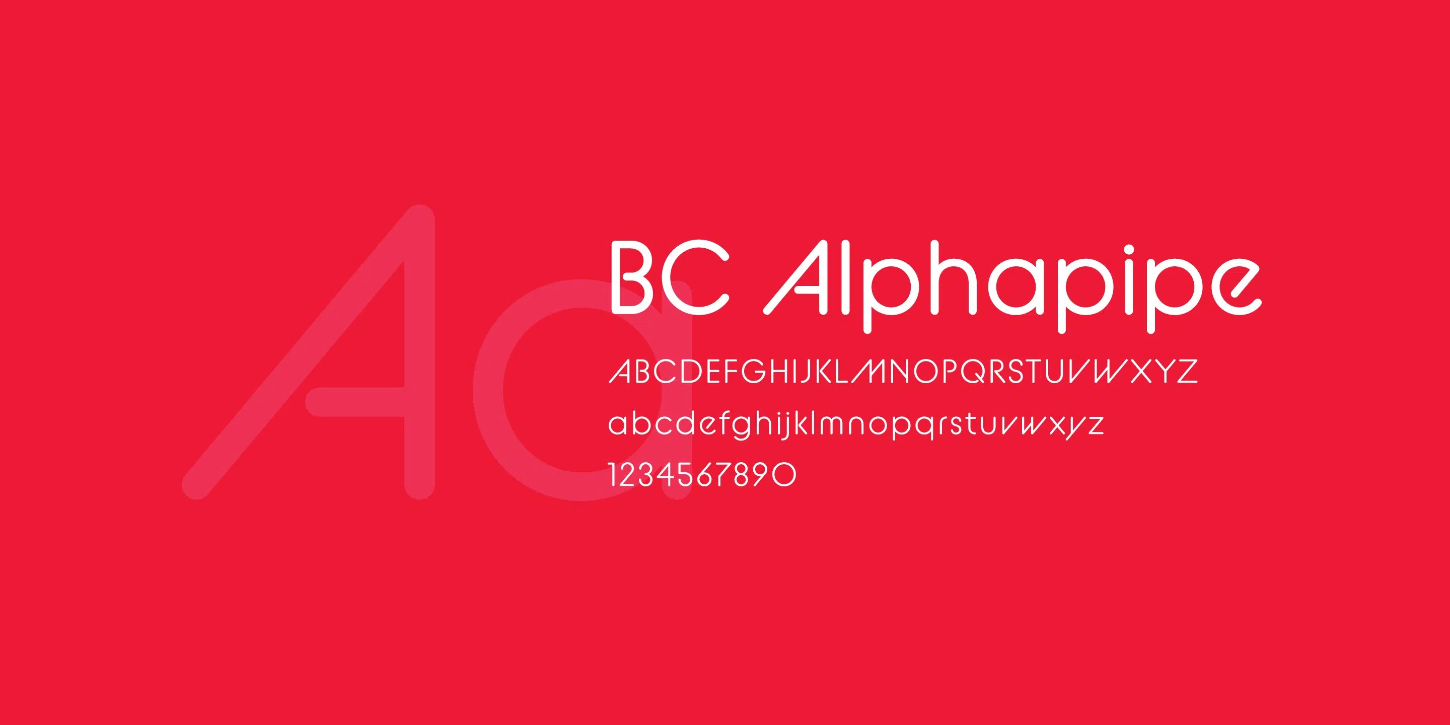 an example of the bc alphapipe typeface