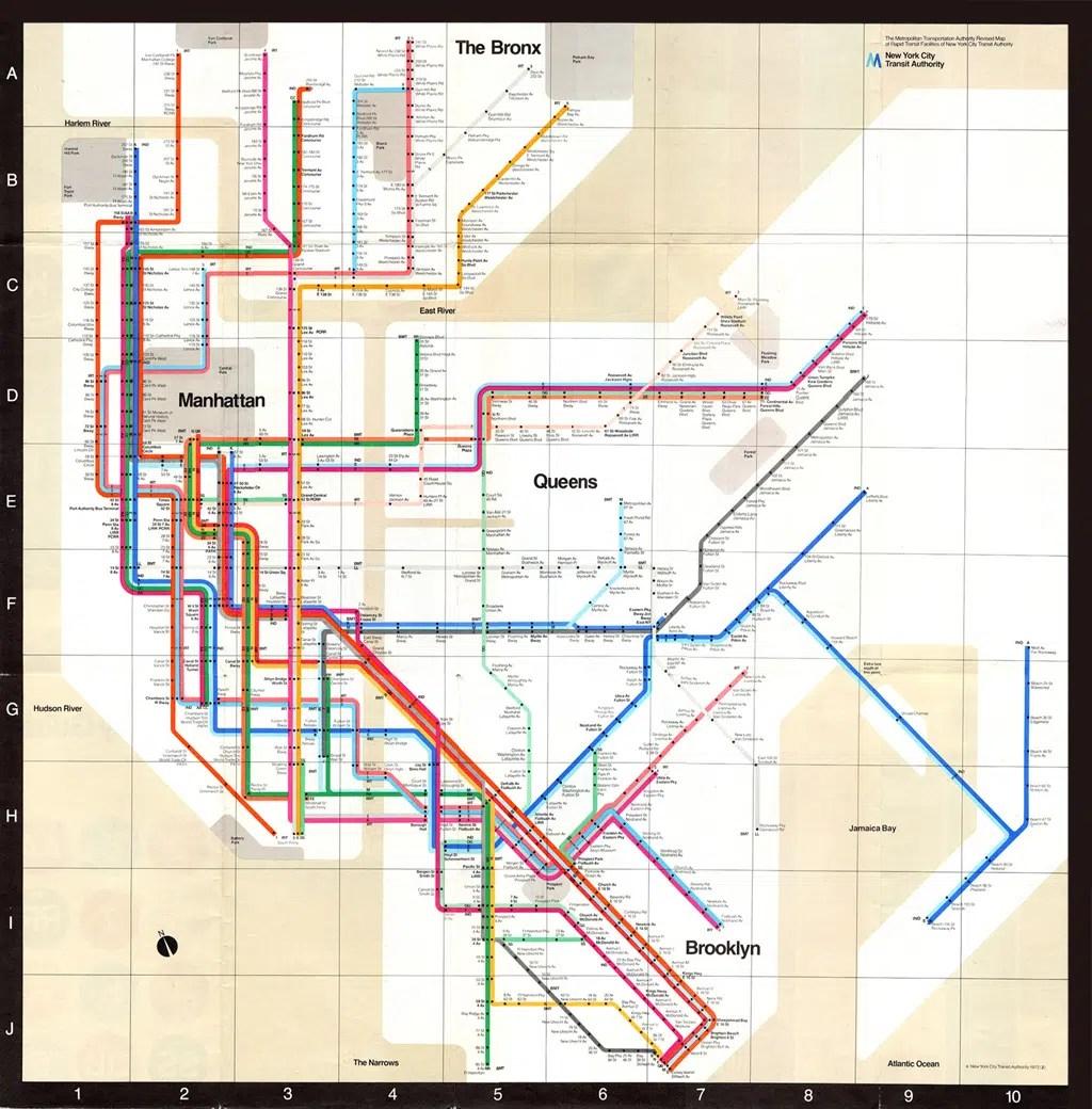 vignelli's subway map, circa 1072