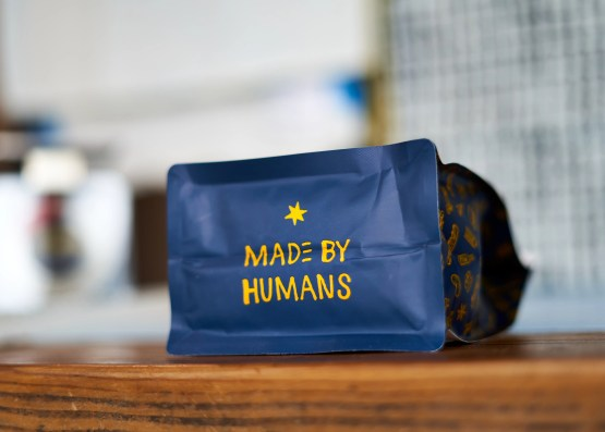 "Metric ""Made by Humans"" bag"