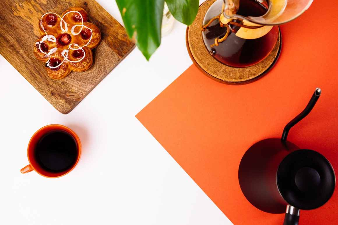 coffee and pastries on a table