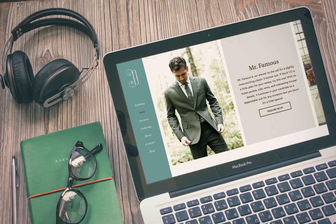 Duchess Clothier website on MacBook