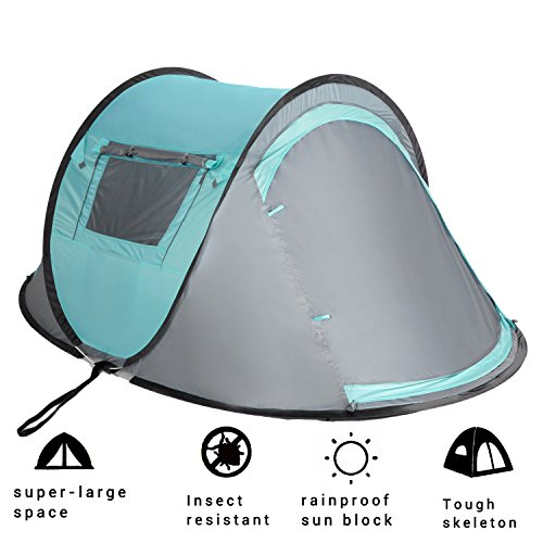 2 Person Instant Automatic Pop Up Cabin Tent Water Rain