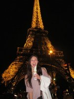 We climbed halfway up the Eiffel Tower, I think I deserved some soft serve.