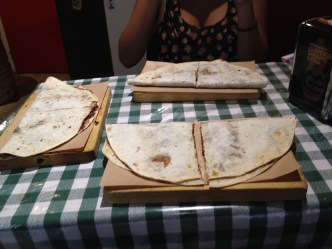 Nutella Piadina...tasted like a crepe made with a tortilla. (it's actually flatbread)