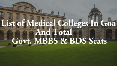 List of Medical Colleges In Goa Total Govt. Private MBBS BDS Seats
