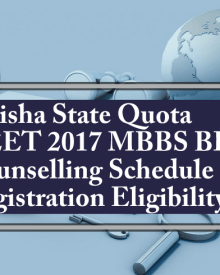 Odisha State Quota MBBS BDS Counselling 2017 Schedule Registration Eligibility