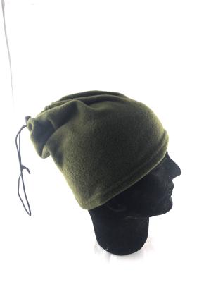 cappello pile verde