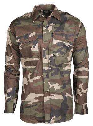 Camicia Miltec mimetica woodland anti strappo 10915024