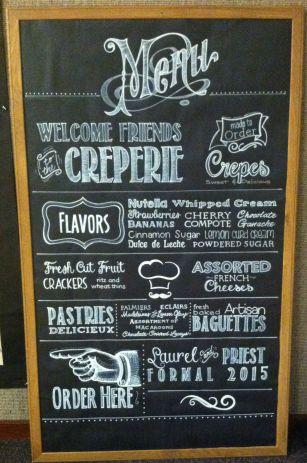 5' Custom Chalkboard Menu by Julie Nef