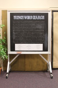 Wordsearchgame painted on chalkboard contact paper by Julie Nef
