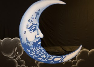 7'x9' Man in the Moon prop for photos, by Julie Nef